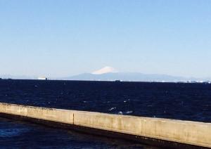 美浜大橋富士山