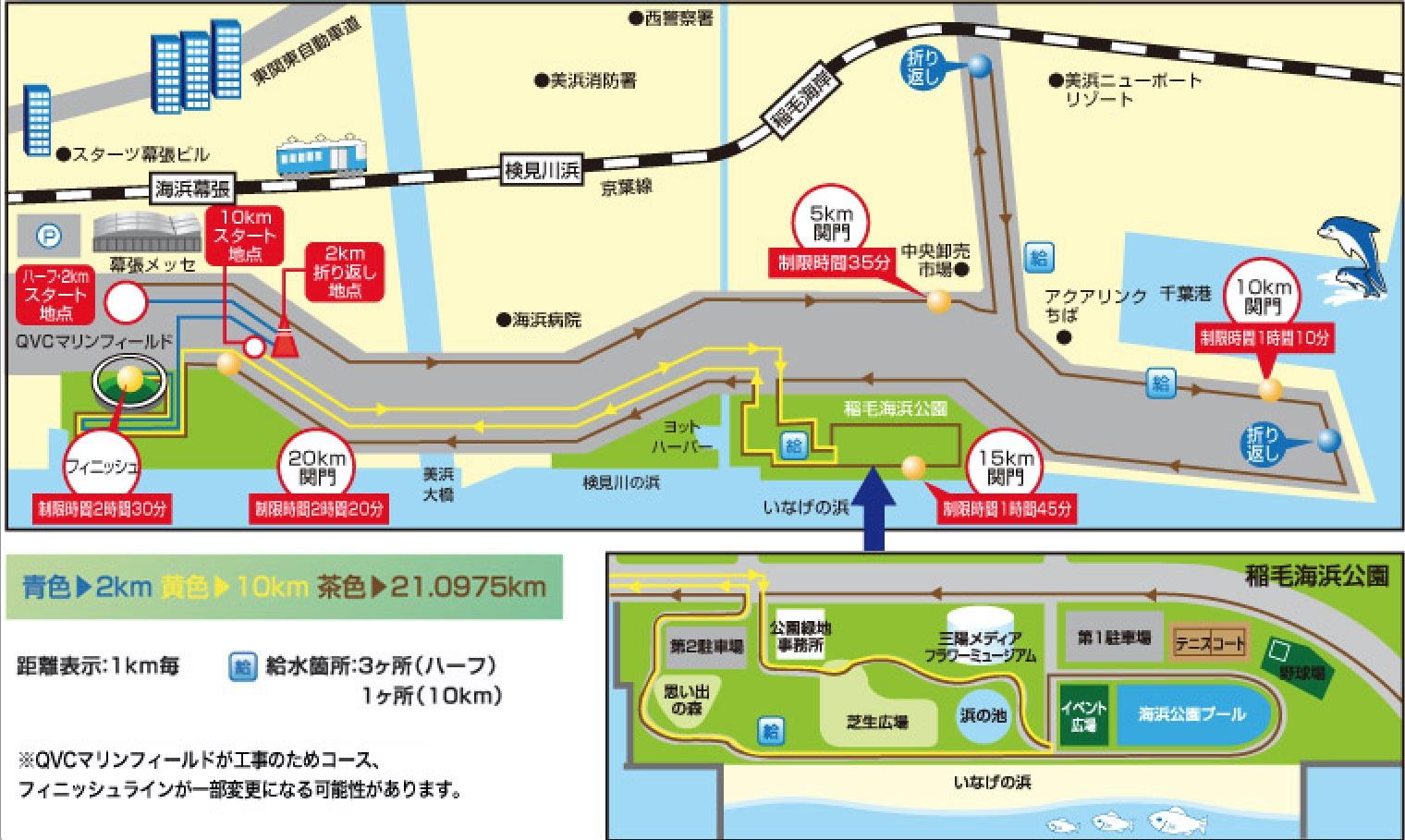 千葉マリンマラソンのコース