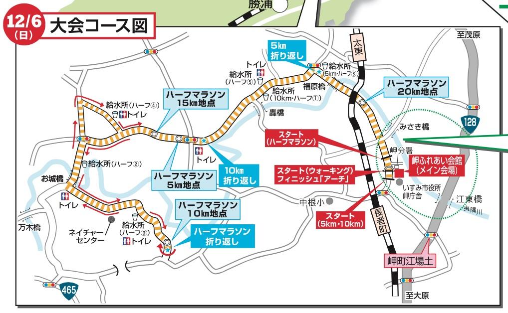 いすみ健康マラソン(増田明美杯)のコース