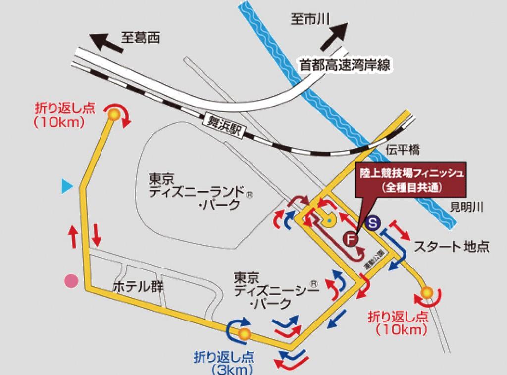 東京ベイ浦安シティマラソンのコース