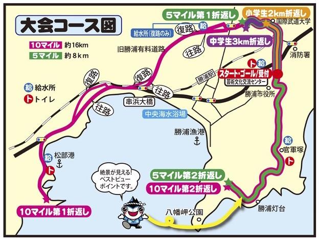 勝浦鳴海ロードレースのコース