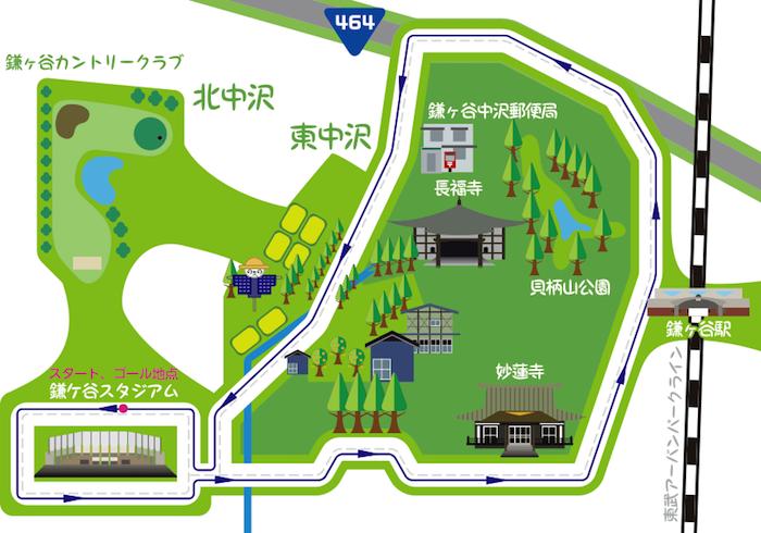 北海道日本ハムファイターズ presents 鎌ケ谷ランフェスタのコース