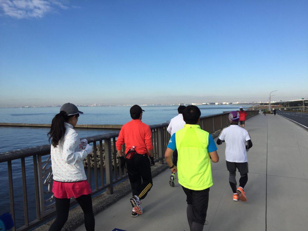 マリンスタジアム〜稲毛海浜公園周回LSD20kmランニング練習会