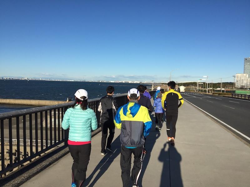 稲毛海浜公園〜マリンスタジアムLSD20kmランニング練習会