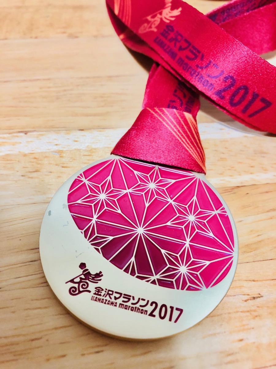金沢マラソン2017メダル