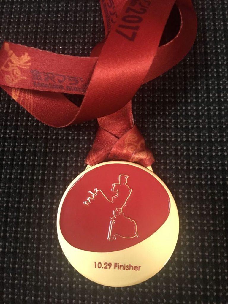 金沢マラソン2017のメダル