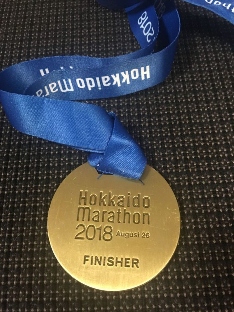 北海道マラソン2018のメダル