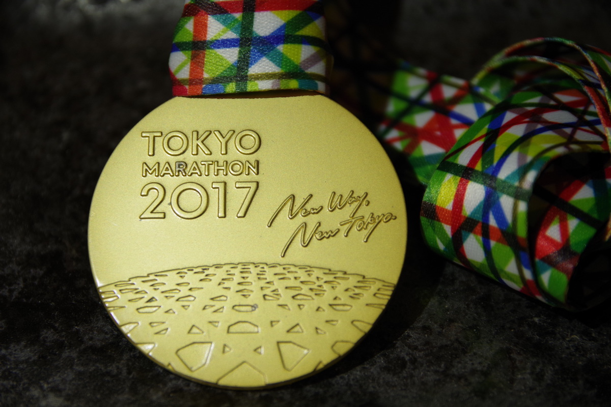 東京マラソンのメダル