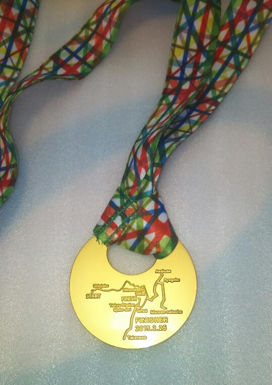 東京マラソン2018のメダルの裏