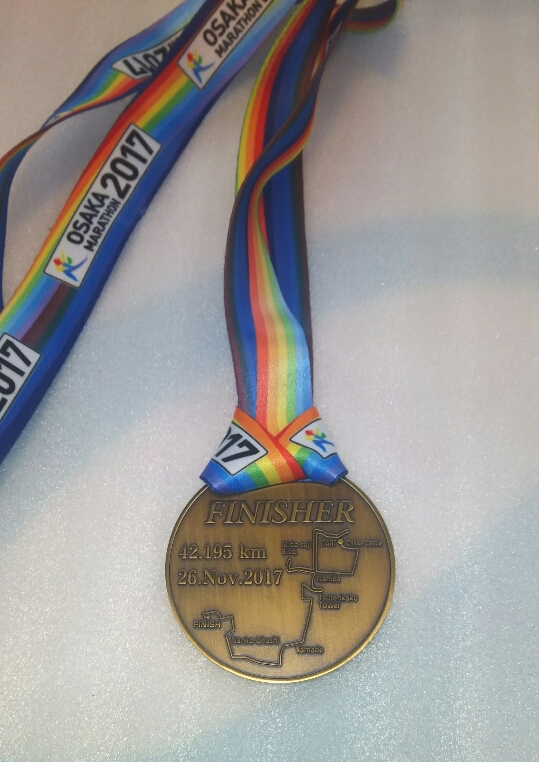 2017大阪マラソンメダル裏