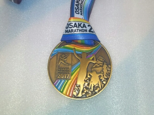 2017大阪マラソンメダル