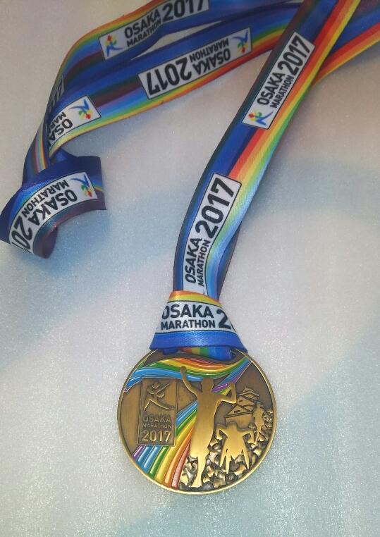 2017大阪マラソンのメダル