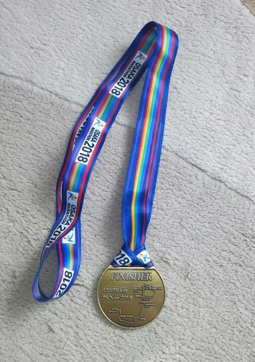 大阪マラソン2018のメダル裏
