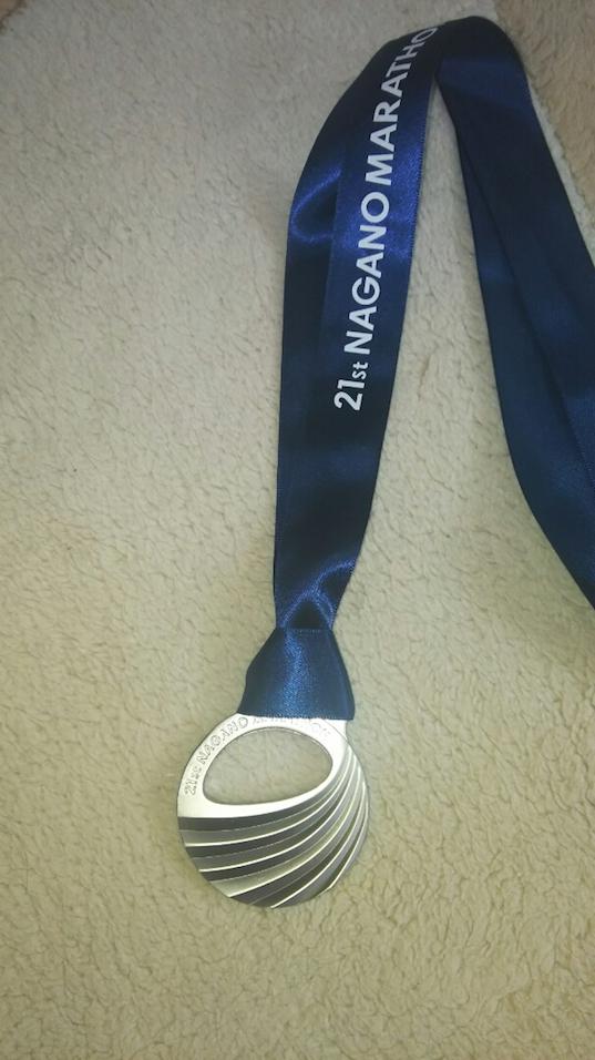 長野マラソン2019のメダル