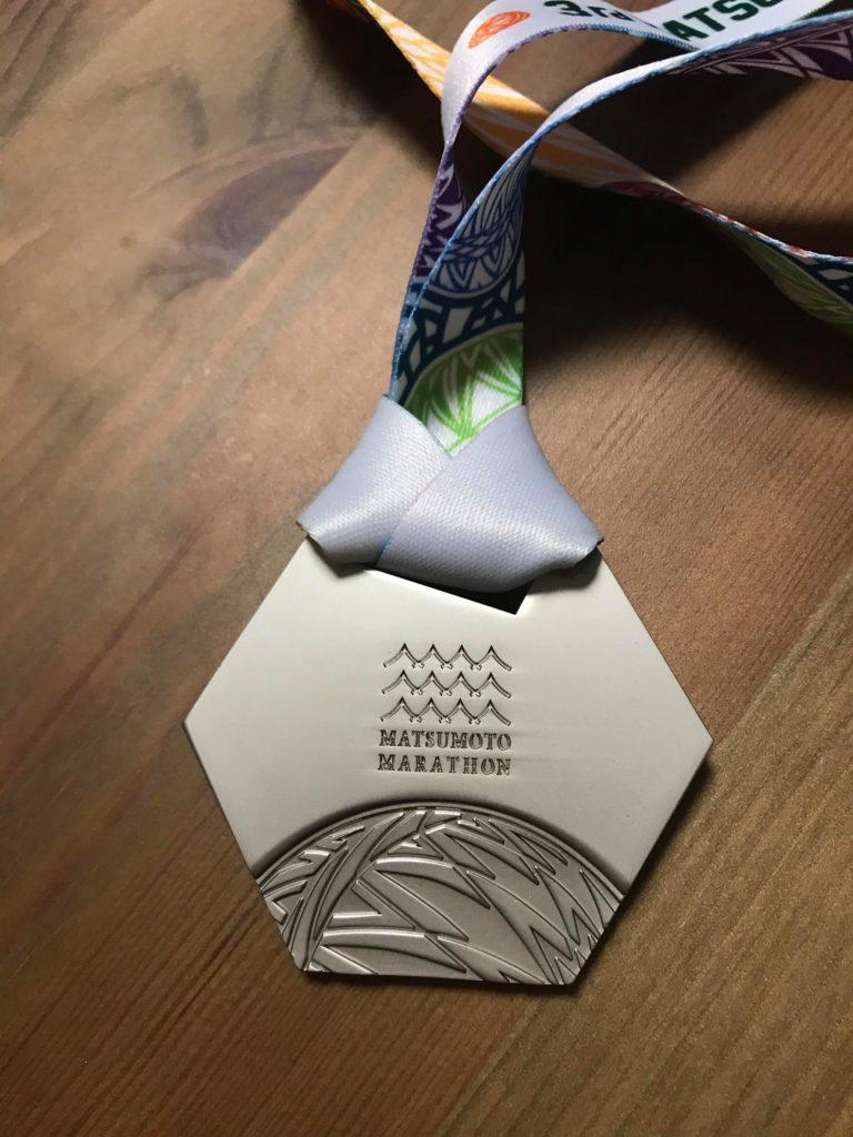 松本マラソン2019のメダルの裏