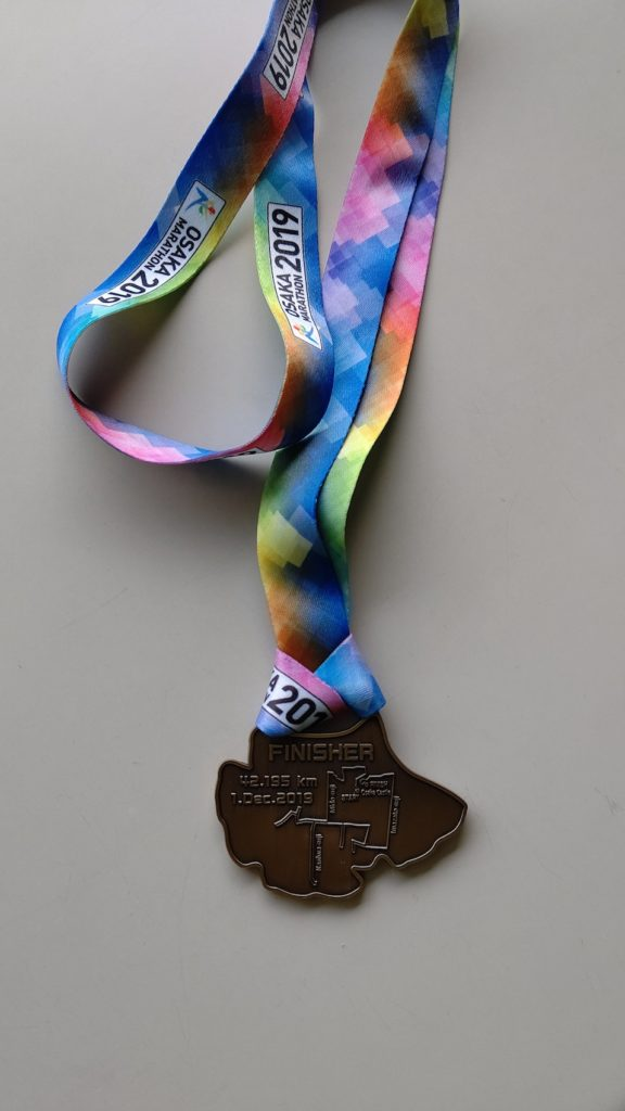 大阪マラソン2019の完走メダル
