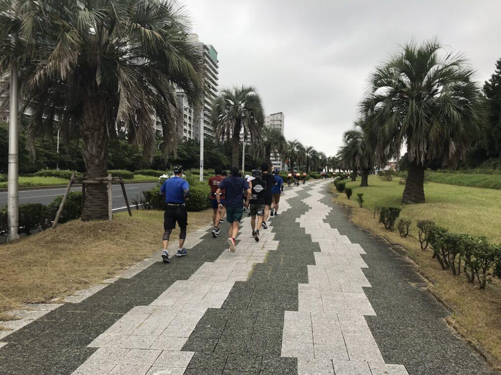 稲毛ヨットハーバー〜マリンスタジアム5~10kmランニング練習会